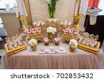 candy bar. table with sweets ... | Shutterstock . vector #702853432