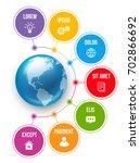 infographics flower style chart ... | Shutterstock .eps vector #702866692