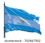 national flag of argentine... | Shutterstock . vector #702867502