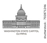 washington state capitol in... | Shutterstock .eps vector #702871246