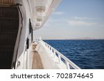 sea view from the white yacht... | Shutterstock . vector #702874645