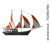 sailboat icon image | Shutterstock .eps vector #702881986