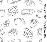 suitcases   seamless pattern.... | Shutterstock .eps vector #702885496