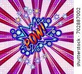 the word pow is written in the...   Shutterstock .eps vector #702887002