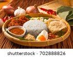 nasi kerabu  popular malay rice ... | Shutterstock . vector #702888826