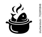 graphic fish in pot  vector   Shutterstock .eps vector #702890848