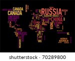 world map  countries in... | Shutterstock .eps vector #70289800