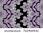 abstract geometric paisley... | Shutterstock . vector #702904942