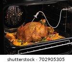 oven chicken roast roasted... | Shutterstock . vector #702905305