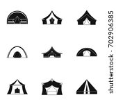 travel tent form icon set.... | Shutterstock .eps vector #702906385