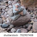 Rocks Piled On The Shore.