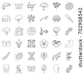 zoology icons set. outline...   Shutterstock .eps vector #702908542