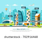 city landscape. real estate and ... | Shutterstock .eps vector #702916468