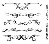 decorative monograms and... | Shutterstock .eps vector #702933106