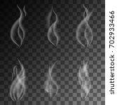 delicate white cigarette smoke... | Shutterstock .eps vector #702933466