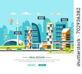 urban landscape. real estate...   Shutterstock .eps vector #702936382