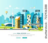 urban landscape. real estate...   Shutterstock .eps vector #702936388