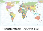 colored world map   borders ... | Shutterstock .eps vector #702945112