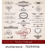 vector set  calligraphic design ... | Shutterstock .eps vector #70294936