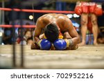 fighter muay thai bowed in the... | Shutterstock . vector #702952216