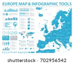 europe map   detailed info... | Shutterstock .eps vector #702956542