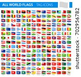 tag flag icons   all world... | Shutterstock .eps vector #702956782