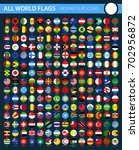 round flat flag icons on black... | Shutterstock .eps vector #702956872