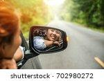 asian women travel relax in the ...   Shutterstock . vector #702980272