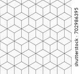 hexagonal trendy hipster... | Shutterstock .eps vector #702986395