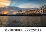 Historic Howrah Bridge On Rive...