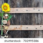 Rustic Wood With Fall Decor An...
