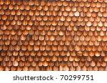 Wooden Shingles Of Wall Siding...