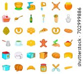 gastronomy icons set. cartoon... | Shutterstock .eps vector #702999886