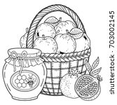 autumn vector coloring page for ... | Shutterstock .eps vector #703002145