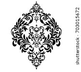 vintage baroque frame scroll... | Shutterstock .eps vector #703015672