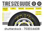 truck tire. size guide. the... | Shutterstock .eps vector #703016608