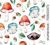 bright autumn seamless pattern... | Shutterstock . vector #703021072