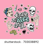 have a nice day. creative... | Shutterstock .eps vector #703038892