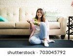 portrait of a beautiful woman... | Shutterstock . vector #703045792