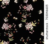 seamless floral pattern in... | Shutterstock .eps vector #703046605