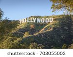 hollywood   california february ... | Shutterstock . vector #703055002