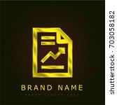 report golden metallic logo