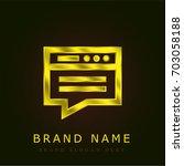 blog golden metallic logo