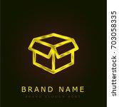opened packaged golden metallic ...