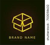 open box golden metallic logo