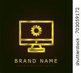 web development golden metallic ...