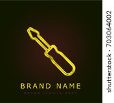 screwdriver golden metallic logo