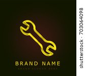 wrench golden metallic logo