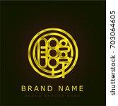 bbq golden metallic logo