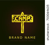 camp golden metallic logo
